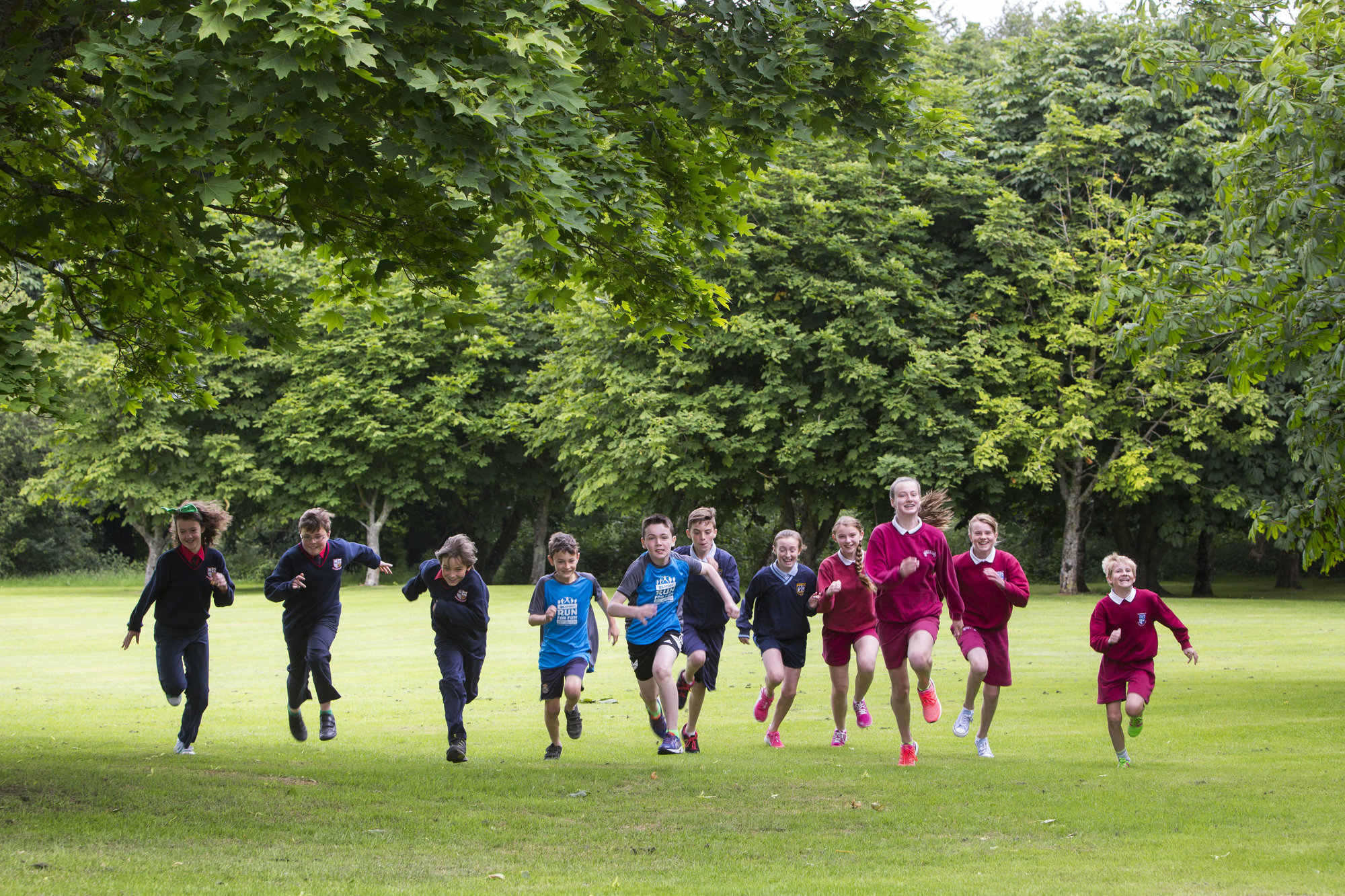 Pictured above is students who took place in the run. Picture: Oisin McHugh/FusionShooters.