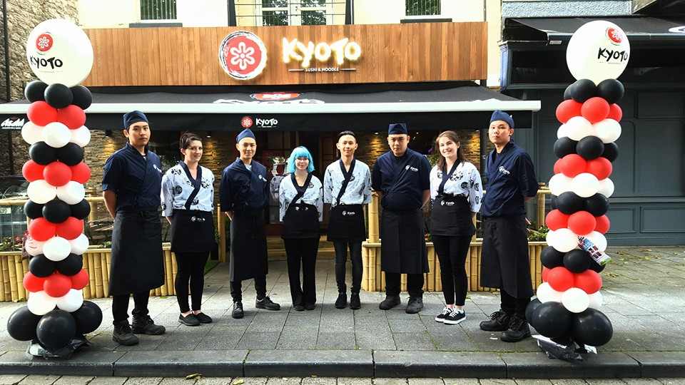 Kyoto Sushi and Noodle Staff. Picture courtesy Kyoto