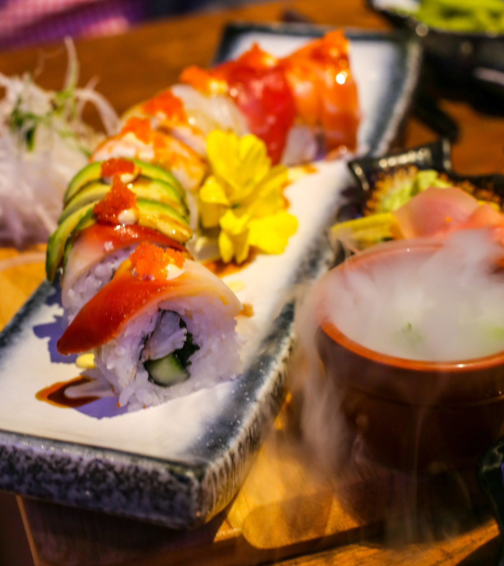 Kyoto Sushi & Noodle Rainbow Roll