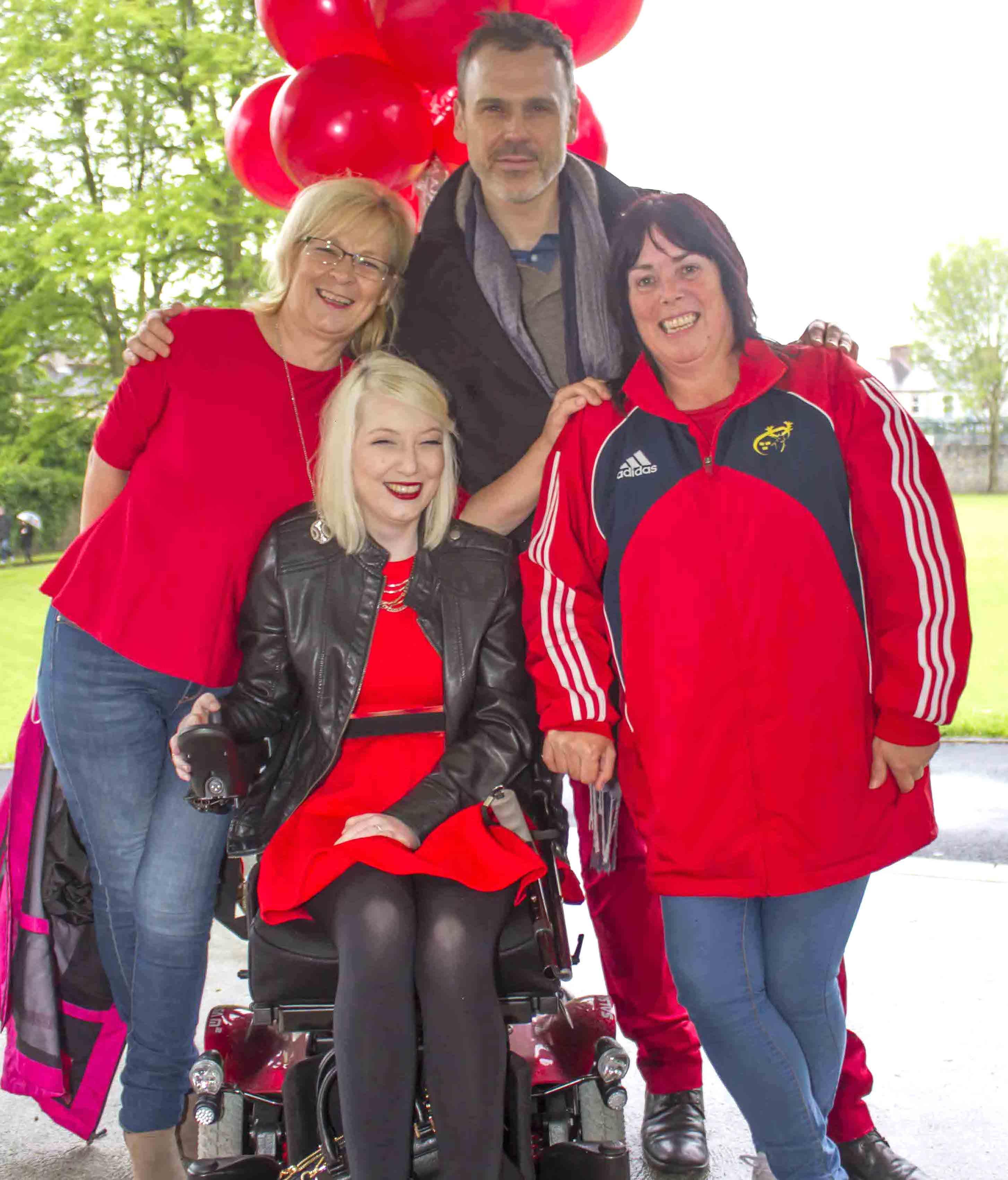 Amanda Corbett Soccer fundraiser 2016 - Richard with Dorothy Meaney, her daughter Zondra Meaney and Pauline Corbett, the mother of Amanda Corbett. Picture: Johnny Baynes/ilovelimerick.