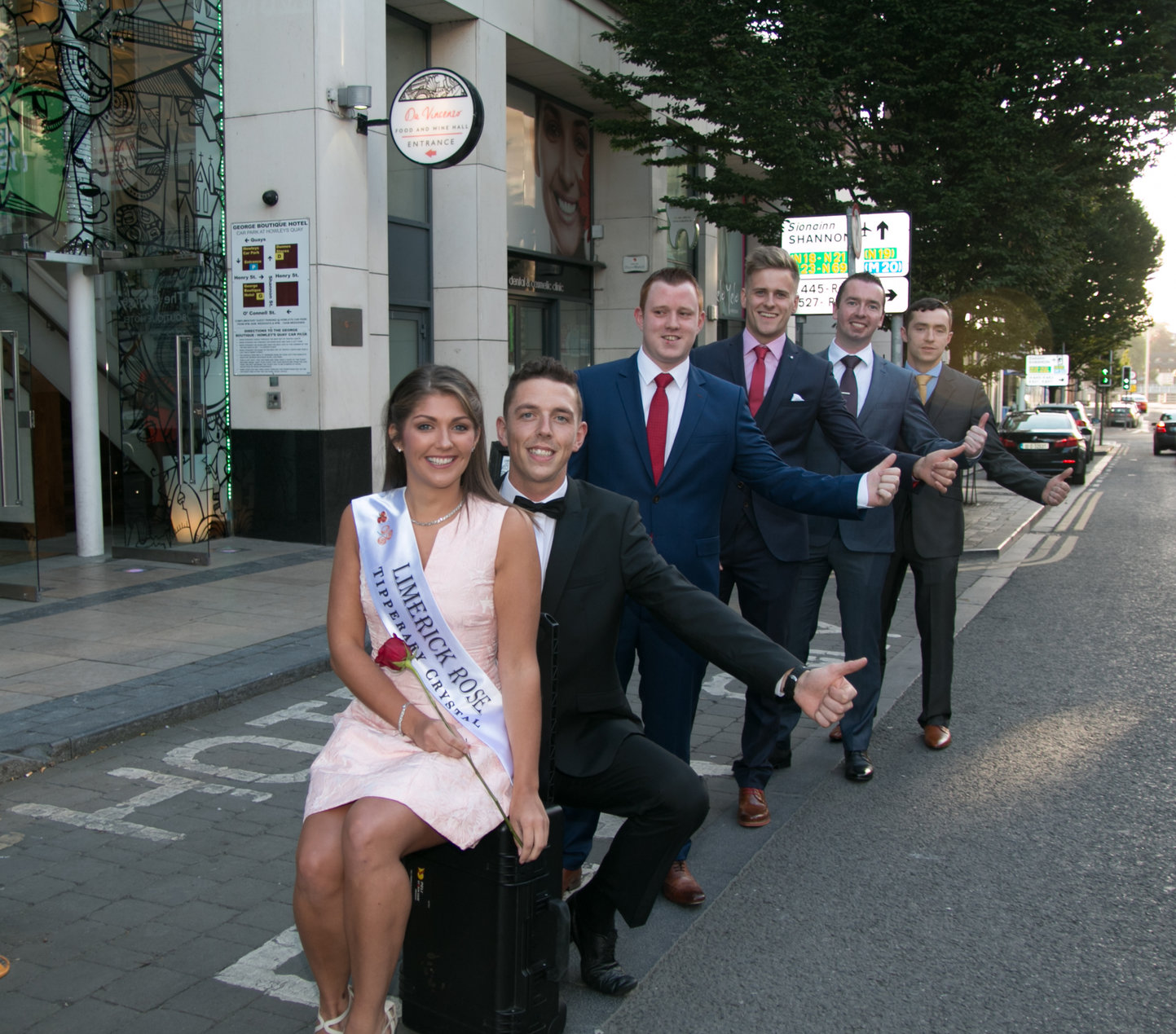 George Boutique Hotel send off Limerick Rose