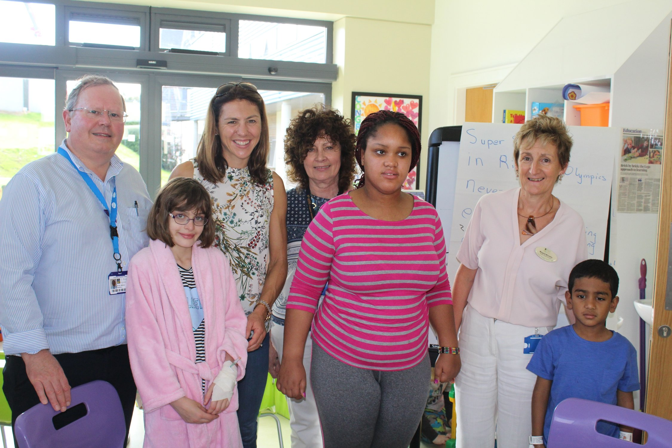 Sinead Jennings visits UHL Childrens Ark