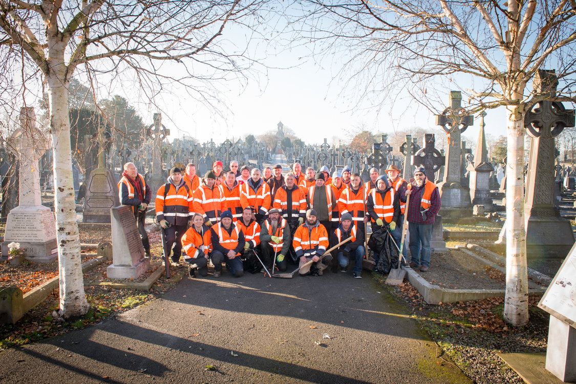 Limerick Civic Trust Mass Cemetery clean up