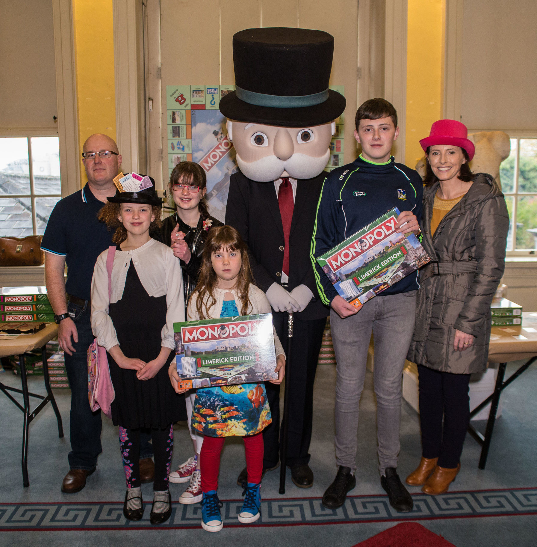 Limerick Monopoly Launch huge success at Hunt Museum. VIP members of the public were invited to be the first people to play Monopoly Limerick. Picture: Cian Reinhardt/ilovelimerick
