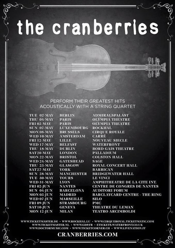 """Résultat de recherche d'images pour """"the cranberries greatest hits tour"""""""