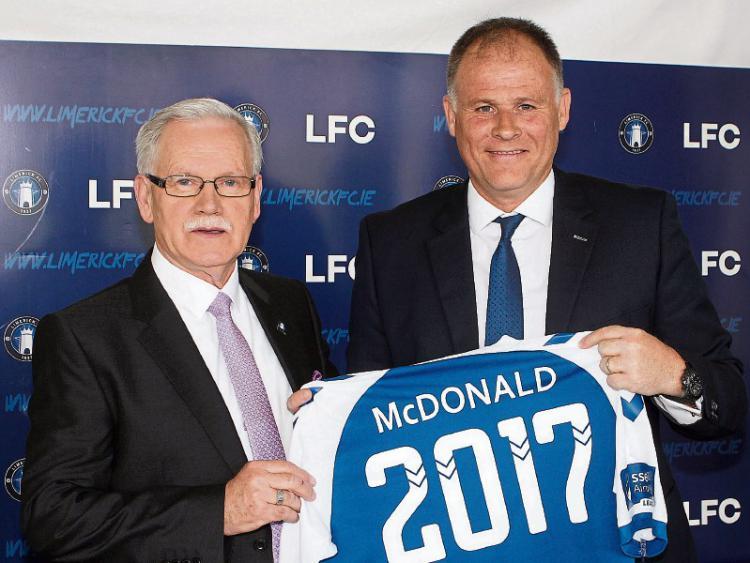 Pat O' Sullivan Chairman of Limerick FC pictured left