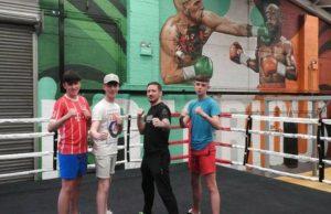 Limerick Youth Service Conor McGregor gym visit