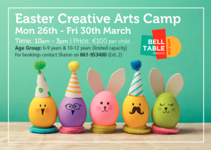 Belltable Easter creative arts camp