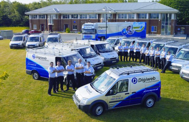 Digiweb quickly becoming the best network provider in Ireland