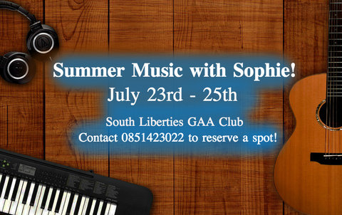Sophie Oolsthorn graduated from Music in UCC in 2015. This Summer Sophie is starting a new business venture and is starting off with a Summer Music Camp, Summer Music with Sophie.