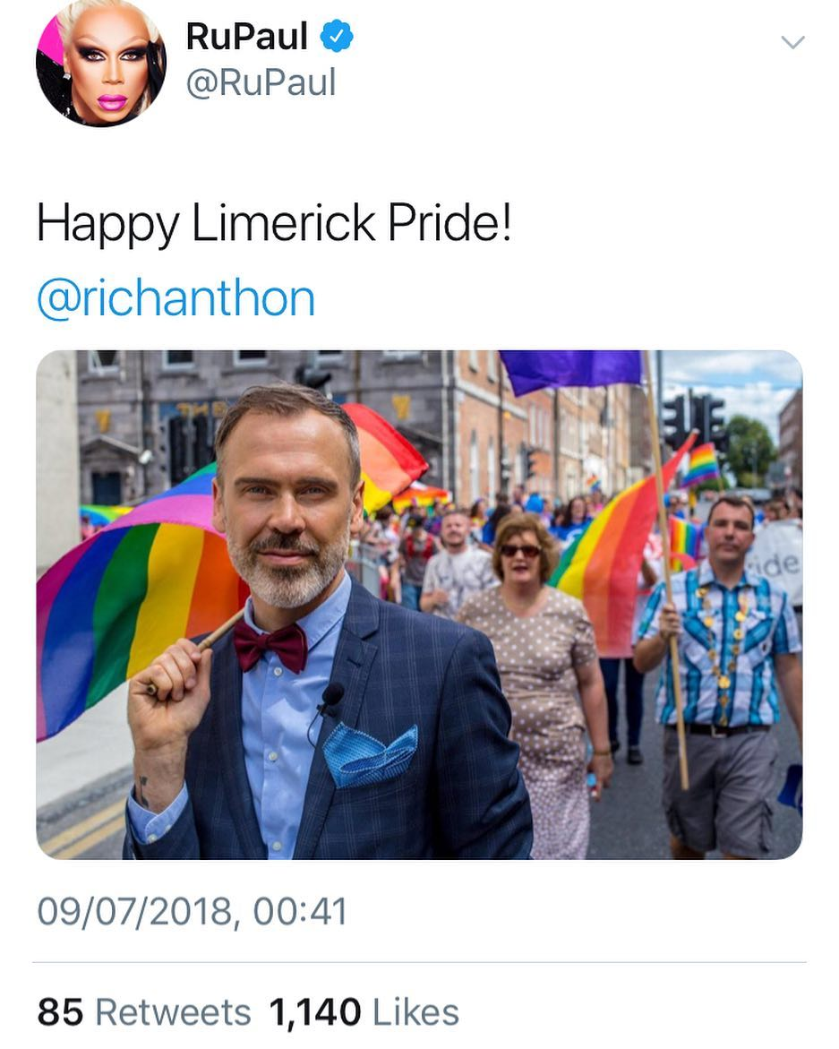 RuPaul wishes Happy Limerick Pride