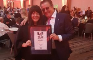 Dolans Pub win the Southern Comfort People's Choice award. Pictured here are Val and Mick Dolan with their award.