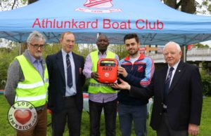 Athlunkard Boat Club receive defibrillator
