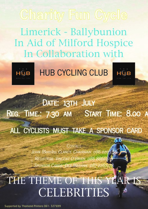 charity cycle to ballybunion