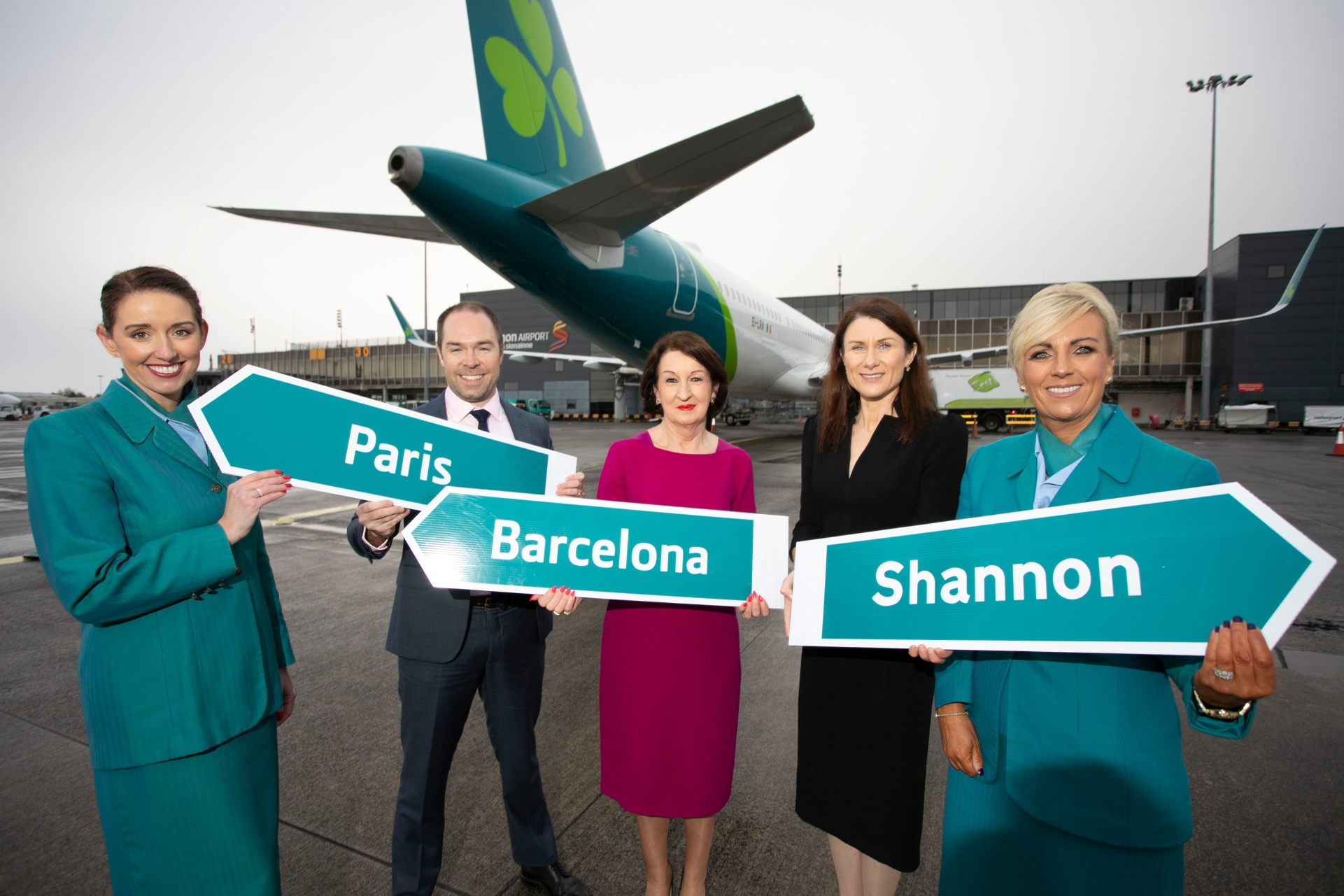 Shannon to Paris and Barcelona