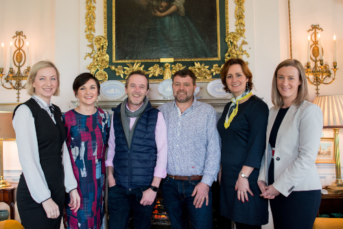 West Limerick Food Destination Group at Glin Castle at the commencement of the West Limerick Food Destination Programme.