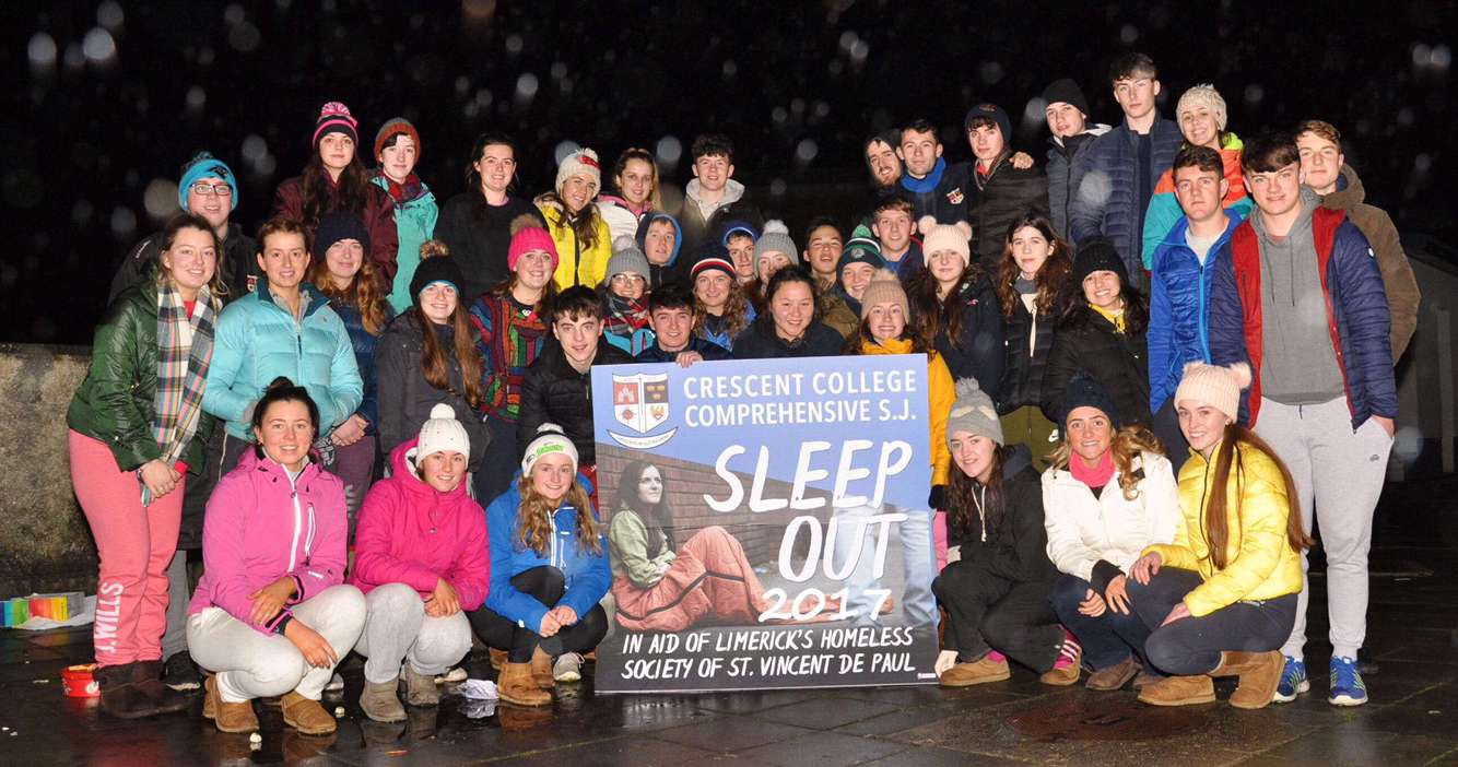 Crescent College Comprehensive charity sleep-out fundraises for St Vincent De Paul
