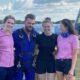 Kayla McGowan skydive- picture above are Ciara O Halloran, Ian McCloughney, Kyla McGowan and Emma Austin.