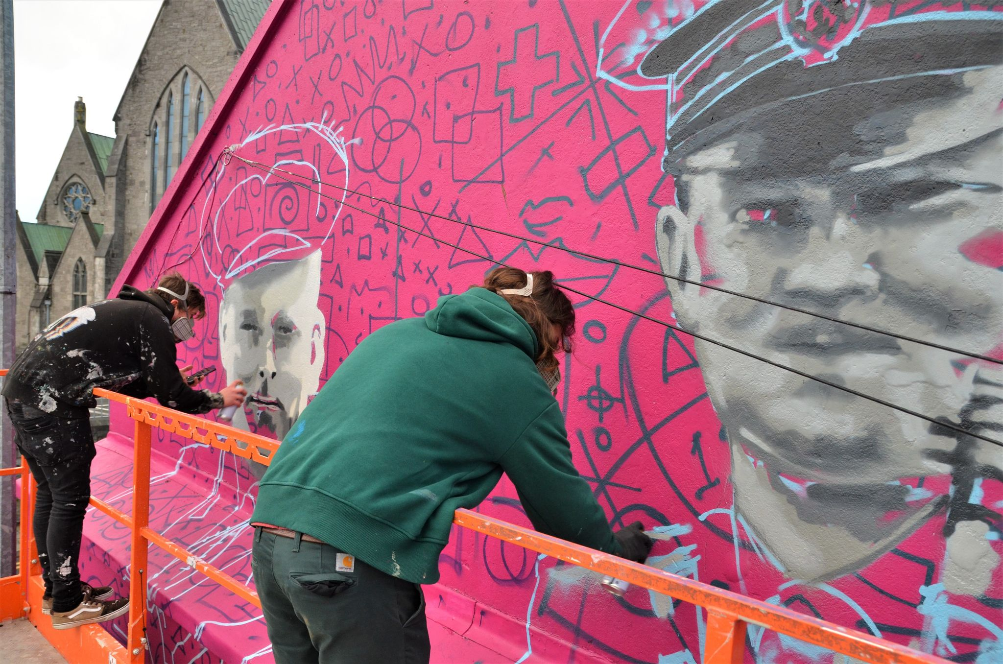 Draw Out commemorative mural