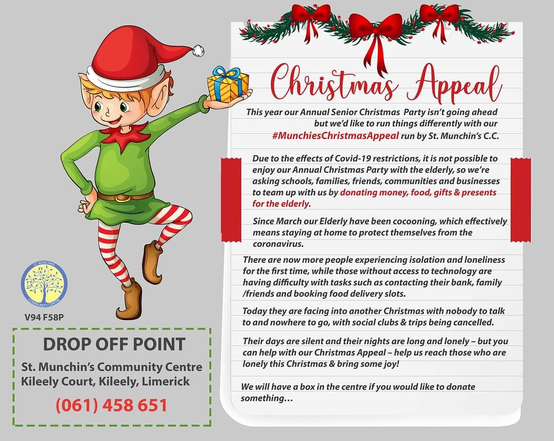 St Munchins Christmas Appeal