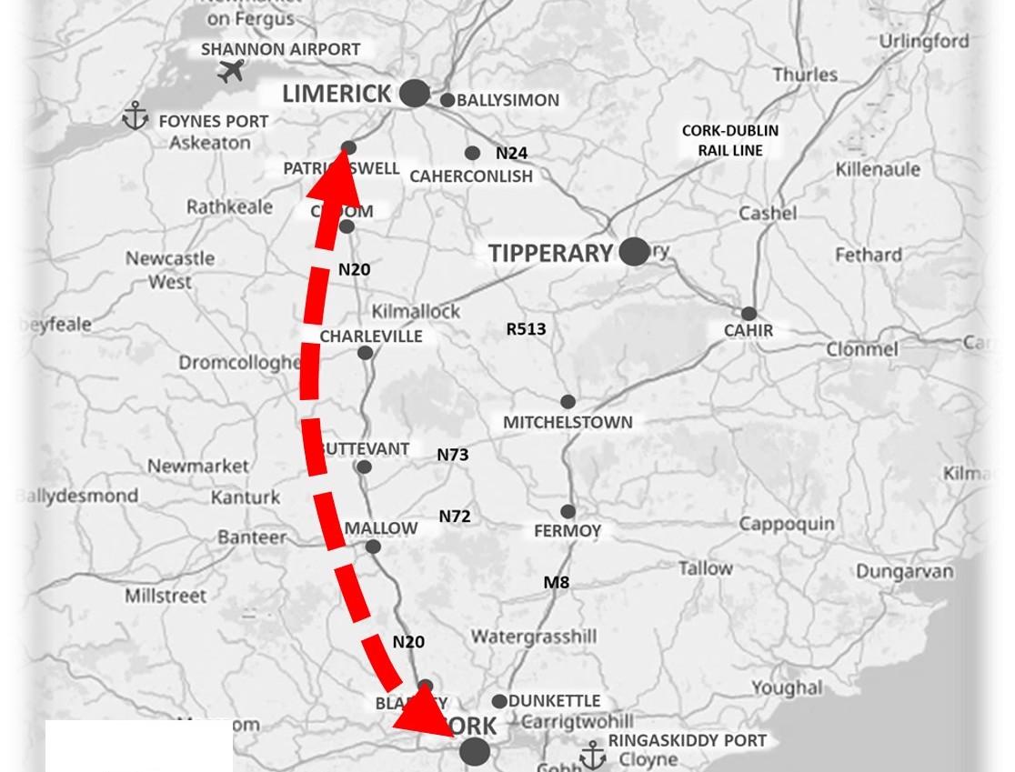 Cork to Limerick Transport Corridor