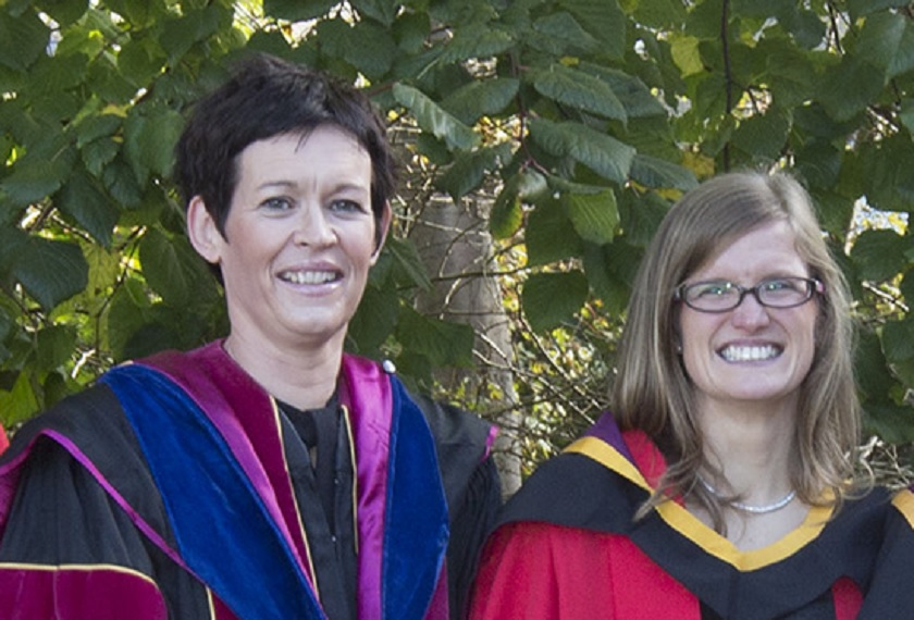 2020 Peter Holmes prize recipients Dr Leavy and Dr Hourigan pictured above