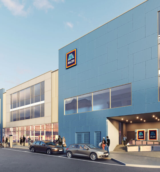 Aldi Limerick store - over 100 new jobs are promised. An artists rendition fo the proposed store abov
