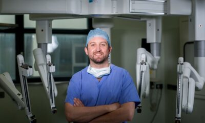 Colin Peirce pictured above with the Da Vinci Xi Dual Console robot at University Hospital Limerick