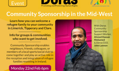 Doras Community Sponsorship programme is running an event this Monday, February 22