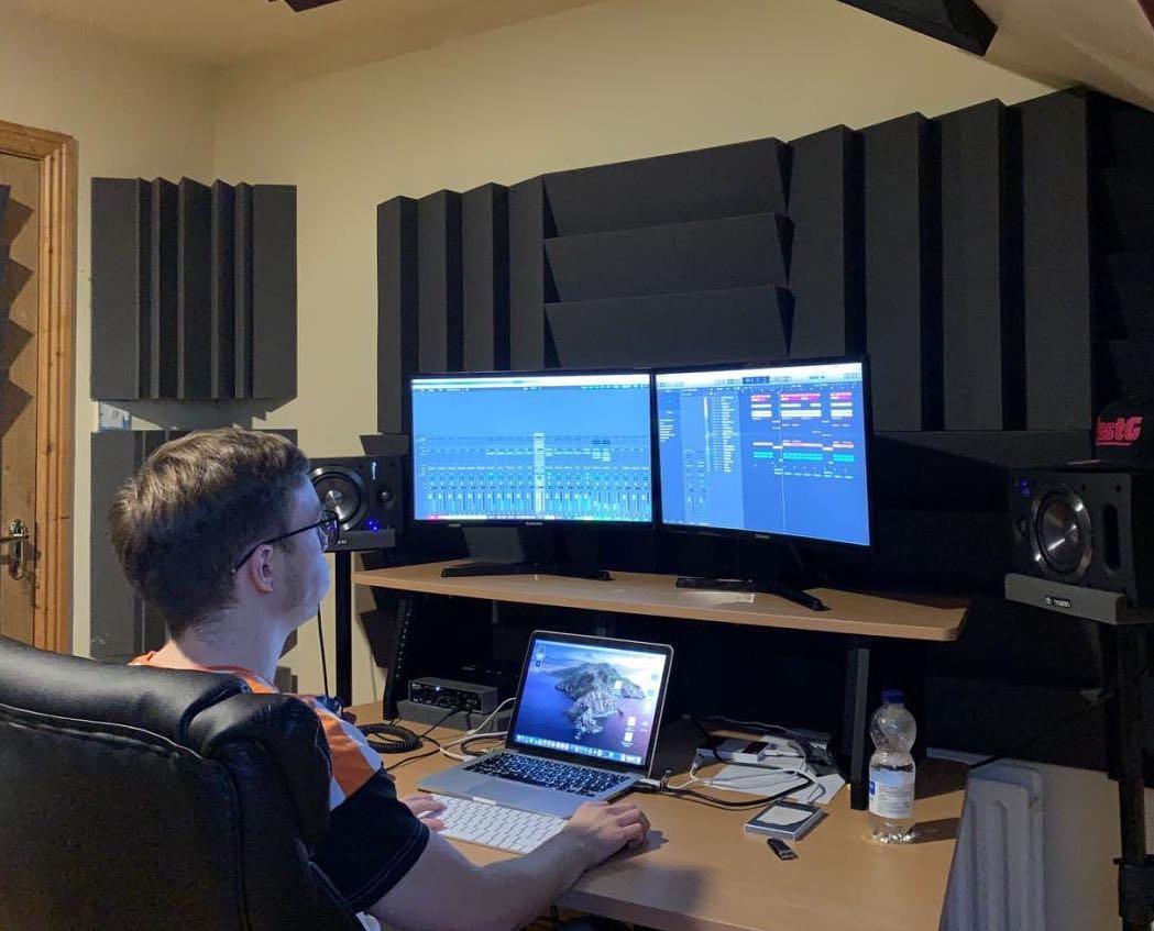 Greg Lynch at work making music