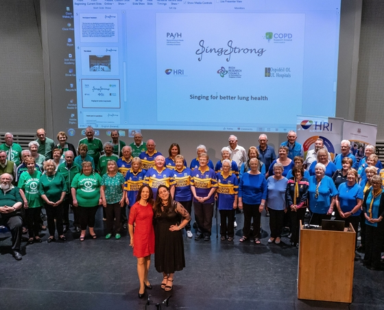 Sing Strong choral choir pictured above in 2019 at their concert performance at the University of Limerick