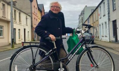 Angela Lynch pictured above is delighted with her new generous gift from The Bike Shop.