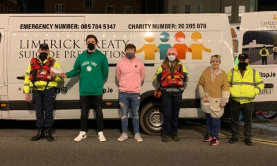 4x4x48 Fundraiser Success - pictured above are Pat Clohessy, Limerick Treaty Suicide Prevention, Fundraisers Eimhin Prendergast and Dylan McMahon, Aoife Kelly, Treaty Suicide, Josephine Corbett, Treaty Suicide fundraising organiser, Matt Collins, Chairperson Treaty Suicide