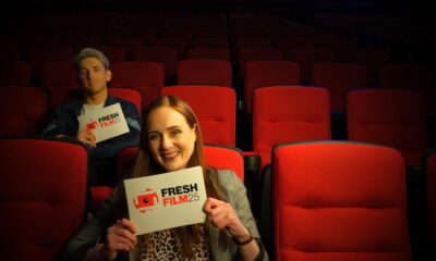 Justine Stafford pictured with Stephen Byrne, her co-host for this year's Fresh International Film Festival.
