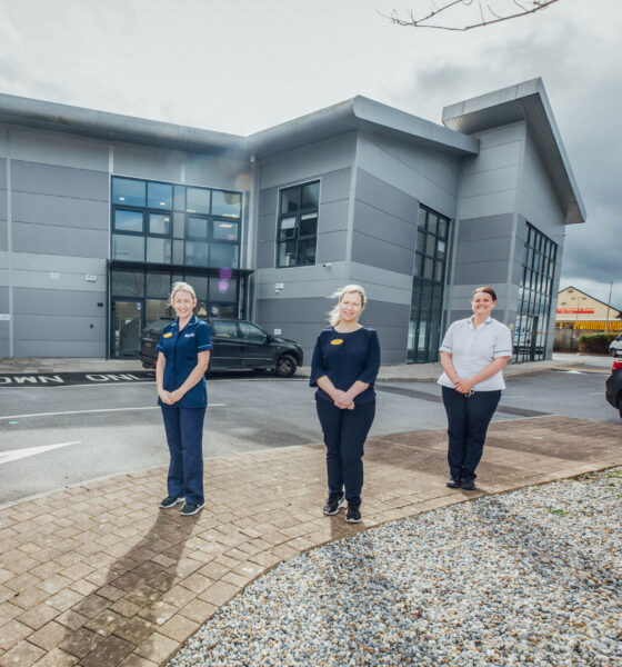 Pictured in the new Ennis Hospital Outpatients Department are: Kate Meade, Staff Nurse; Clinical Nurse Manager Claire Lenane (OPD manager); Fiona Johnson, Clinical Nurse Specialist; and Fiona Higgins, Staff Nurse. Picture: Brian Arthur