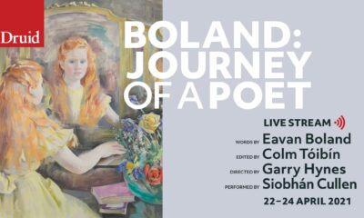 Boland Journey of a Poet presented by Druid Theatre in partnership with Lime Tree Theatre will be live streamed Thursday 22nd April to Saturday 24th April.
