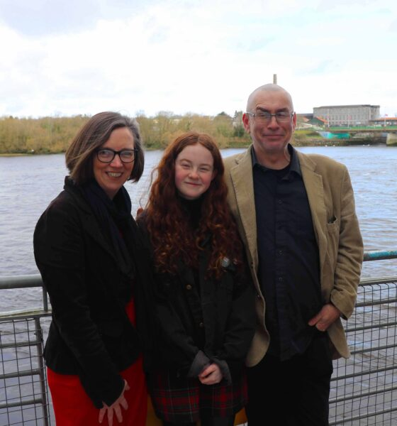 C40 Global Youth - Saoirse Exton has been selected as one of only 14 young climate activists worldwide to be part of the inaugural C40 Global Youth and Mayors' Forum. Saorise pictured above with her parents. Picture: ilovelimerick