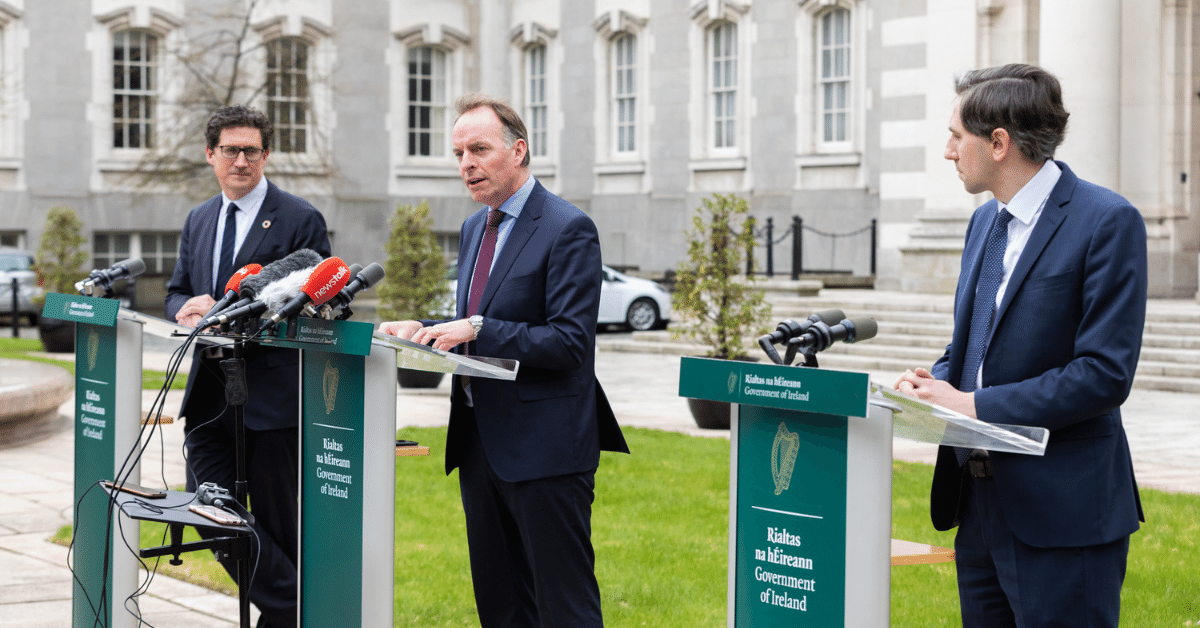 Minister for the Environment, Climate and Communications, Eamon Ryan; Skillnet Ireland Chief Executive, Paul Healy; and Minister for Further and Higher Education, Research, Innovation and Science, Simon Harris pictured at the launch.