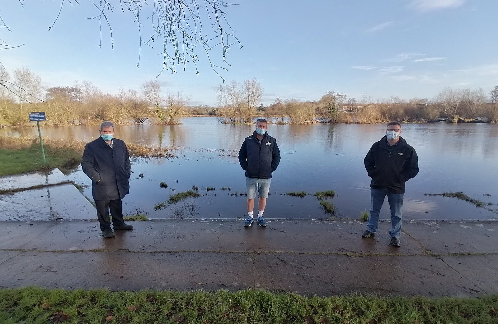 Corbally Baths - Pictured at the Baths are Deputy Kieran O'Donnell, Mark Dempsey and John Ryan of Limerick Narwhals.