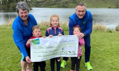 Ryan Family Fundraises - Ryan family pictured above with Brendan and Terry Ring, Co-Founders Cliona's Foundation.