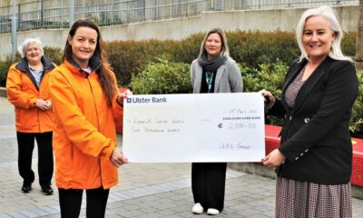 UL Hospitals Group fundraised for 4 charities. Pictured above are members of Limerick Suicide Watch receiving their share of the proceeds from the UL Hospitals Group 2019 Christmas Fair & Raffle: (front, from left) Elaine Leahy, Limerick Suicide Watch; and Colette Cowan, CEO, UL Hospitals Group; with (back, from left), Joan Forde, Limerick Suicide Watch; and Hilda Coughlan, UL Hospitals Group.