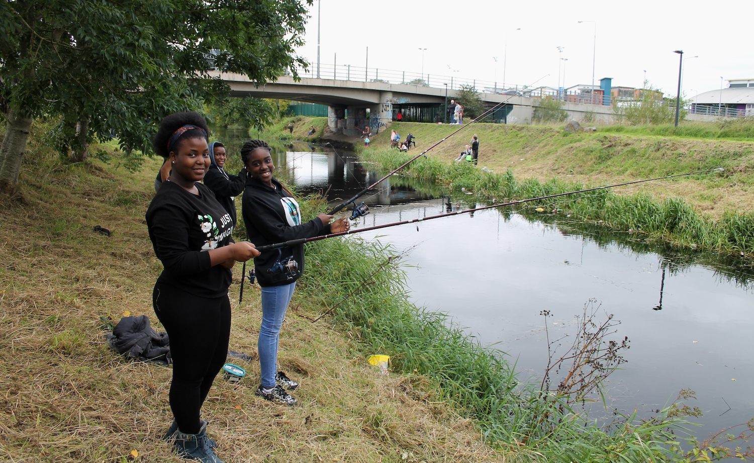 Youth Work Ireland Week 2021 - Young people enjoying a spot of fishing with Limerick Youth Service in 2019.