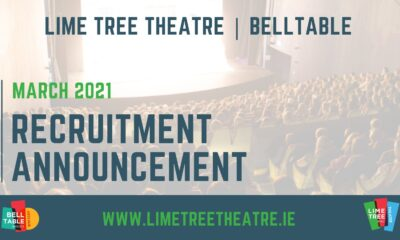 Belltable Recruitment Announcement - Lime Tree Theatre and Belltable are looking to recruit two new members of staff who will become part of a small, hardworking and dedicated team.