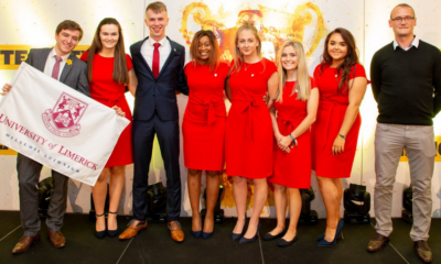 2021 Enactus Ireland Champions - Pictured at the 2019 Enactus Ireland National Competition are James Crotty, Catríona O'Halloran, Jack O'Connor, Sikhulekile Ruth Ndlovu, Elaine Gleason, Leanne Delaney, Aoíbhin Jordan and Faculty Adviser Brian Shee.
