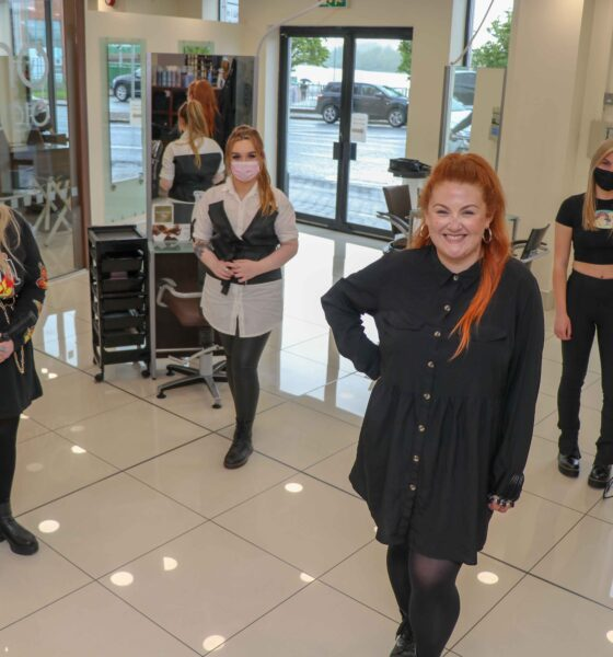 Bellissimo Limerick are recruiting - Lauren Masterson, Senior Stylist and Master ColourExpert of Bellissimo Limerick (in front) pictured with trainee stylists at the salon. Picture: Peter Cooney/ilovelimerick