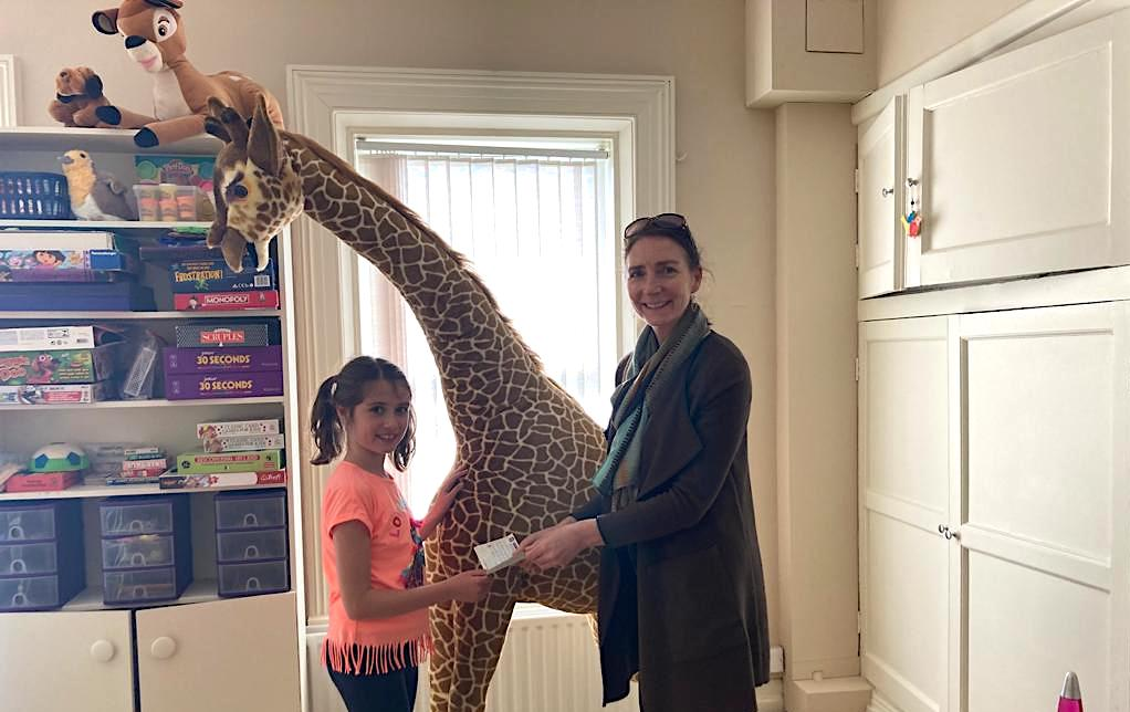 Caoimhe Brouder pictured with Senior Support Worker Theresa Kavanagh