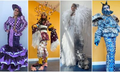 Colaiste Nano Nagle Junk Kouture 2021 entries are four outfits made by students of entirely sustainable material.