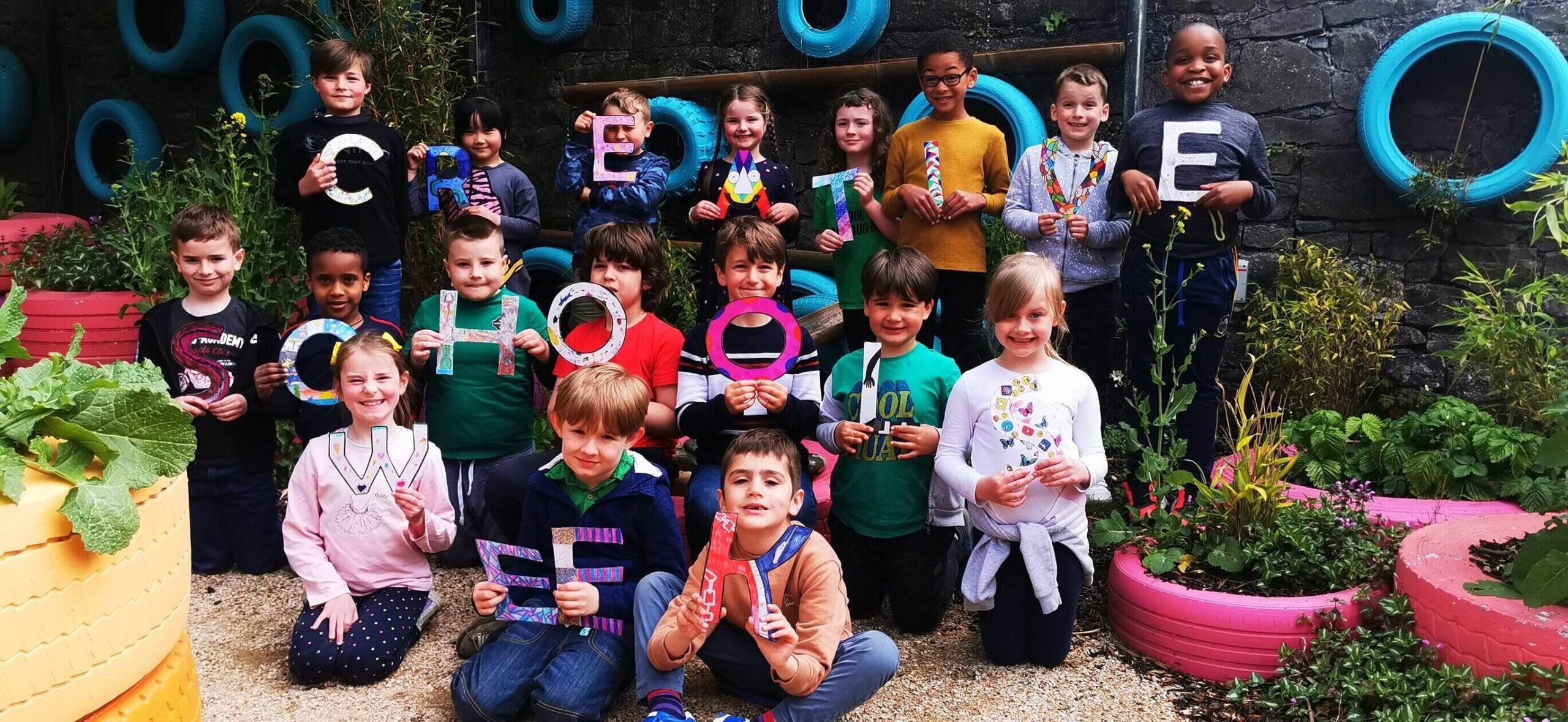 Creative Schools Week 2021 - pictured above are pupils of Saint Michael's National School.