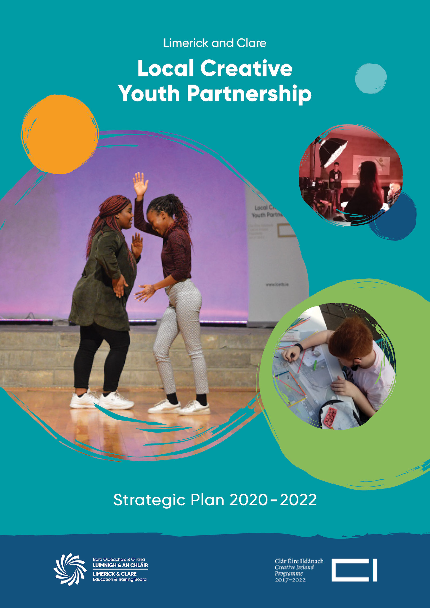 The Strategic Plan identifies specific groups of young people to be prioritised in the establishment of creative programmes across Limerick and Clare