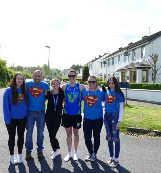 Daragh McCoy pictured above was supported by his girlfriend Ashling and his family and friends